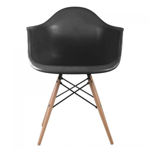 ALEA Wood Πολυθρόνα Ξύλο - ΡΡ Μαύρο