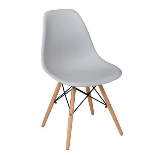 ART Wood Καρέκλα Τραπεζαρίας Κουζίνας Ξύλο - PP Γκρι