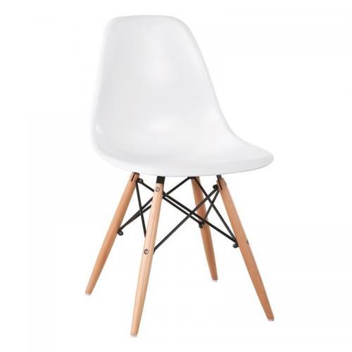ART Wood Καρέκλα Ξύλο - PP Άσπρο
