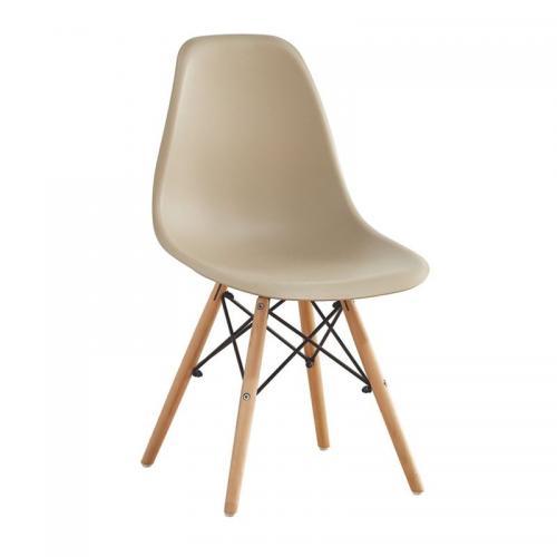 ART Wood Καρέκλα Τραπεζαρίας Κουζίνας Ξύλο - PP Tortora