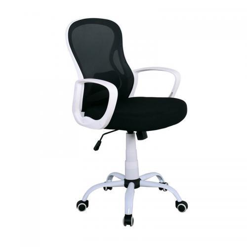 BF2011 Πολυθρόνα Mesh Μαύρο (PP άσπρο)