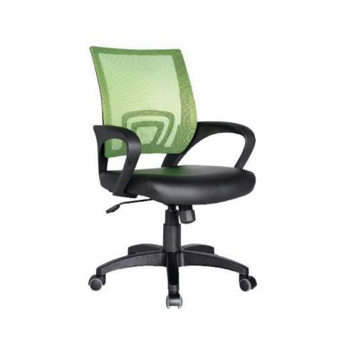 BF2101 Πολυθρόνα Γραφείου με Ανάκλιση Λαχανί Mesh - Μαύρο PU