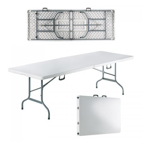 BLOW-R Τραπέζι Συνεδρίου Catering Πτυσσόμενο - Άσπρο ( Βαλίτσα )