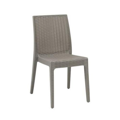 DAFNE Καρέκλα Στοιβαζόμενη Πλασ.Μπεζ Tortora