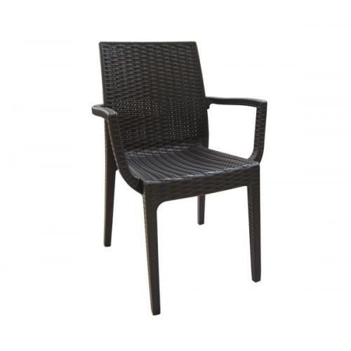 DAFNE Πολυθρόνα Στοιβαζόμενη PP - UV Καφέ