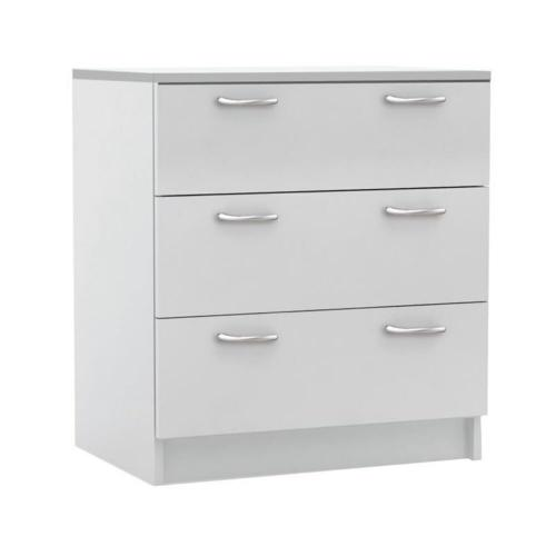 DECON Συρταριέρα με 3 Συρτάρια - Άσπρο