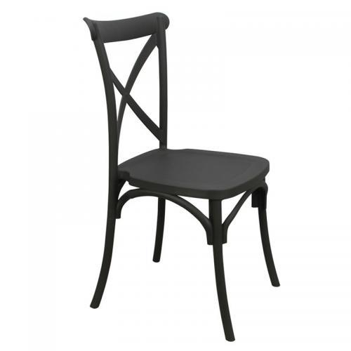 DESTINY Καρέκλα Πολυπροπυλένιο (PP) Ανθρακί
