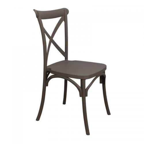 DESTINY Καρέκλα Πολυπροπυλένιο (PP) Καφέ Mocha