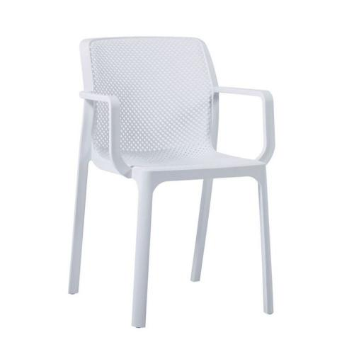 DORIAN Πολυθρόνα Kήπου Βεράντας / PP-UV Άσπρο