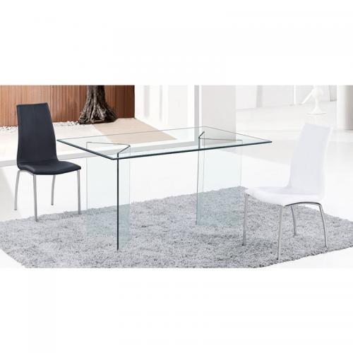 GLASSER Τραπέζι - Γραφείο / Διάφανο Γυαλί 12mm