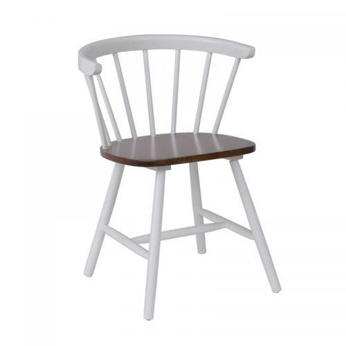 KANSAS Πολυθρόνα Άσπρη / Καρυδί