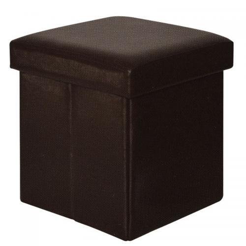 ORION Σκαμπώ Αποθηκευτικό - Βοηθητικό / PU Σκούρο Καφέ