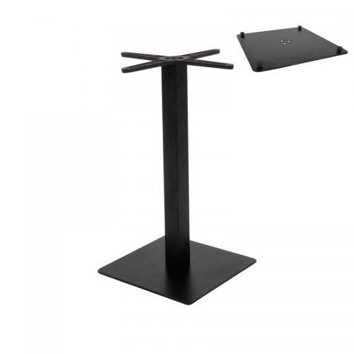 PRATO-R Βάση Τραπεζιού 40x40cm H.73cm με ρεγουλατόρο Μέταλλο Βαφή Μαύρο / 11,90kg