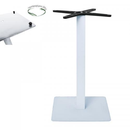 PRATO-R Βάση Τραπεζιού με ρεγουλατόρο 40x40cm H.73cm Μέταλλο Βαφή Άσπρο / 11,90kg