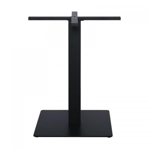PRATO Βάση Τραπεζιού 50x50cm H.72cm Cross 60x60cm Μέταλλο Βαφή Μαύρο