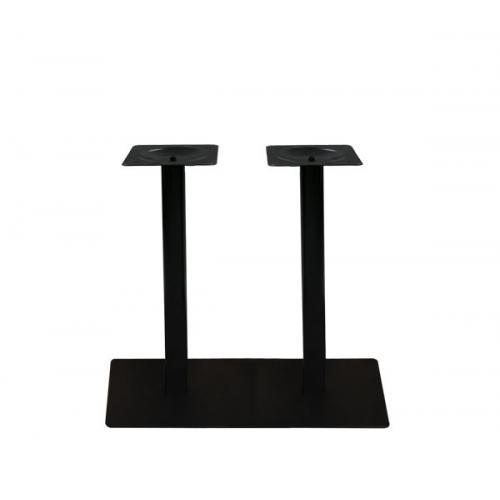 PRATO Βάση Τραπεζιού 70x40cm Μακρόστενη H.72cm Μέταλλο Βαφή Μαύρο / 21,00kg