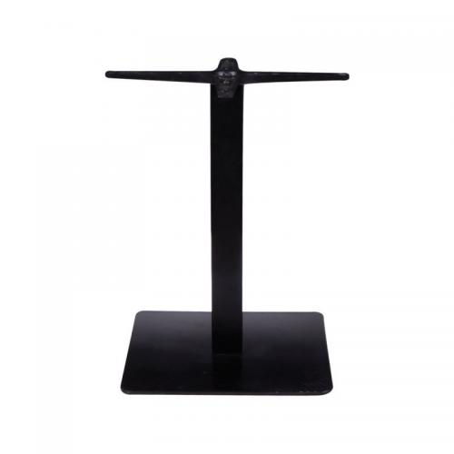 PRATO Βάση Τραπεζιού χαμηλή 40x40cm H.49cm Μέταλλο Βαφή Μαύρο