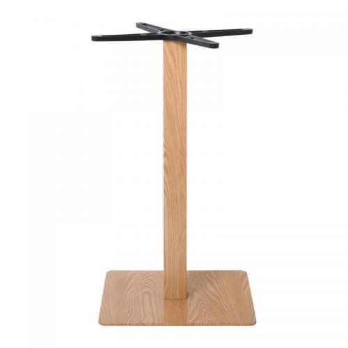 PRATO Βάση Τραπεζιού 40x40cm H.72cm Μέταλλο Βαφή Απόχρωση Ξύλου Φυσικό / 11,85kg
