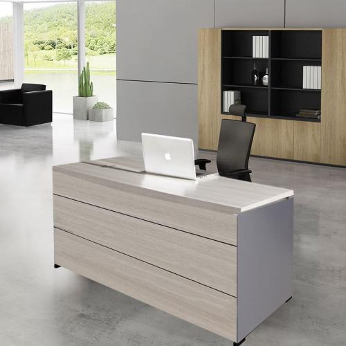 PROGRESS Γραφείο 160x80cm Απόχρωση Elm - Grey