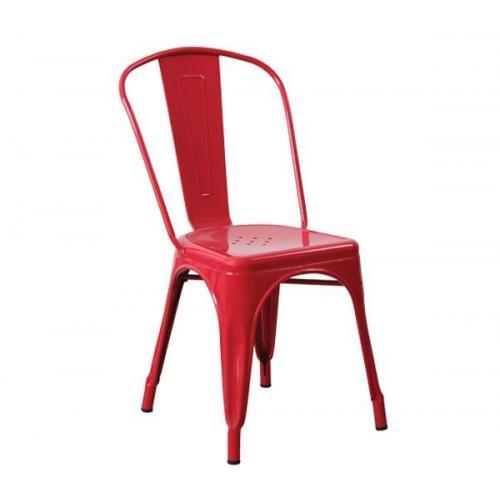 RELIX Kαρέκλα - Μέταλλο Βαφή Κόκκινο