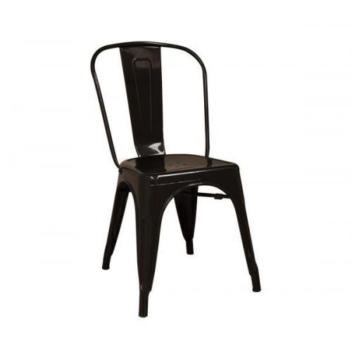 RELIX Καρέκλα - Μέταλλο Βαφή Μαύρο - Στοιβαζόμενη