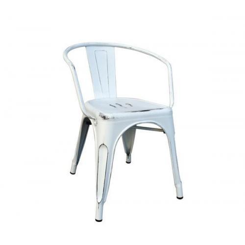 RELIX πολυθρόνα Μεταλλική Antique White