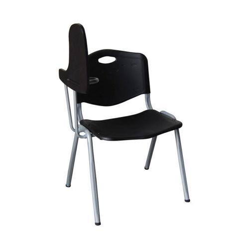 STUDY Καρέκλα - Θρανίο Μέταλλο Βαφή Silver - PP Μαύρο