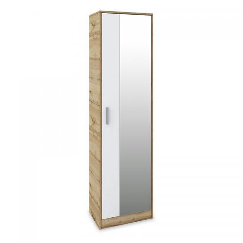 Παπουτσοθήκη - ντουλάπι Astra pakoworld 16 ζευγών χρώμα sonoma-λευκό 50x32x182εκ