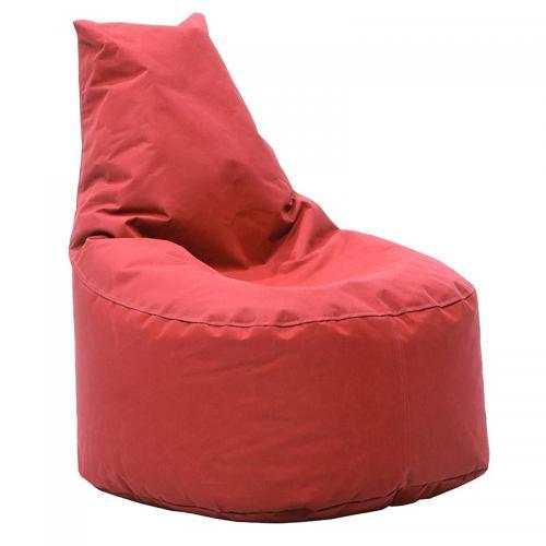 Πουφ πολυθρόνα Norm pakoworld υφασμάτινο αδιάβροχο κόκκινο