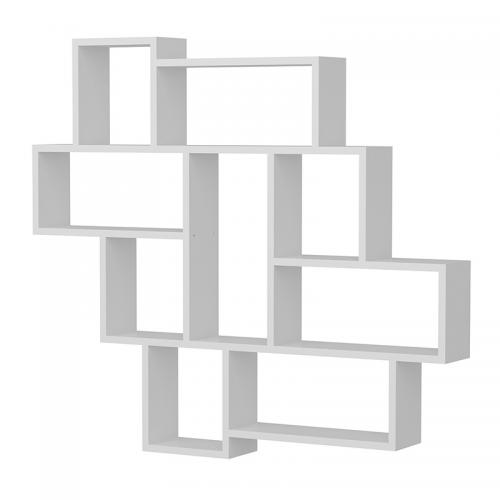 Ραφιέρα τοίχου PWF-0245 pakoworld χρώμα λευκό 115,5x14,5x103,5εκ