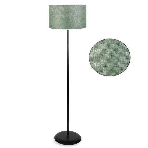 Μεταλλικό φωτιστικό δαπέδου PWL-0137 pakoworld μαύρο-pvc καπέλο πράσινο Φ30x150εκ