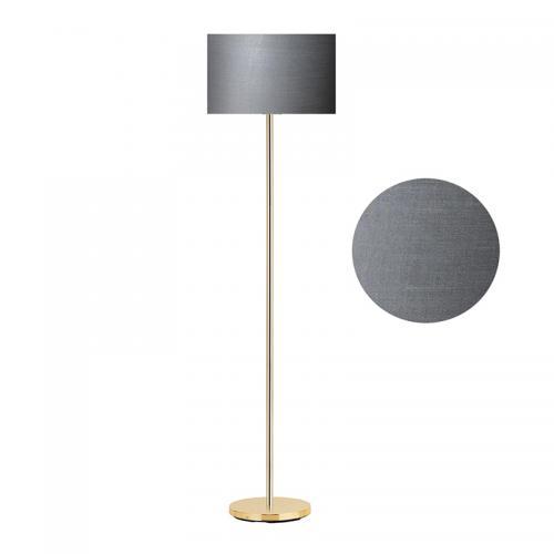 Μεταλλικό φωτιστικό δαπέδου PWL-0137 pakoworld χρυσό-pvc καπέλο ανθρακί Φ30x150εκ