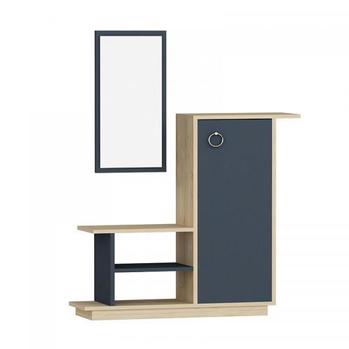Έπιπλο εισόδου με καθρέπτη Ceel pakoworld χρώμα φυσικό-ανθρακί  80x29.5x90εκ