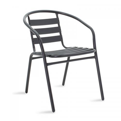 Πολυθρόνα κήπου Tade pakoworld μέταλλο μαύρο