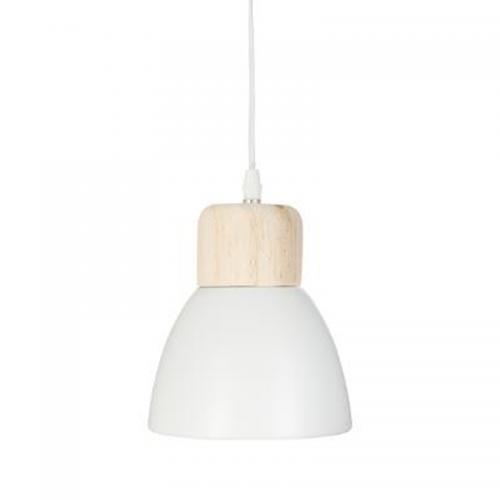 Φωτιστικό οροφής Desy pakoworld χρώμα λευκό-φυσικό Φ15x99εκ