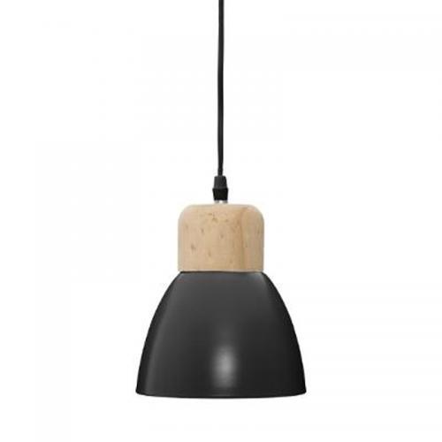 Φωτιστικό οροφής Desy pakoworld χρώμα μαύρο-φυσικό Φ15x99εκ