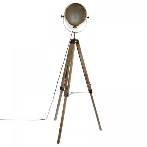 Ρυθμιζόμενο φωτιστικό δαπέδου Mads pakoworld bronze-καφέ 62.5x57x150εκ