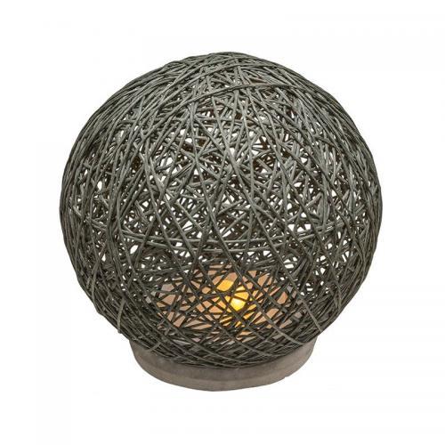 Επιτραπέζιο φωτιστικό Ball pakoworld ανθρακί με led Φ18,5x18εκ