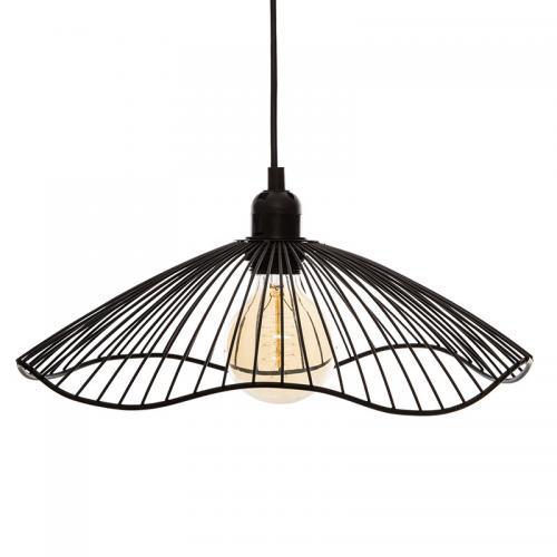 Φωτιστικό οροφής Galt pakoworld μαύρο Φ34x15.5εκ
