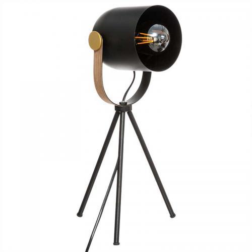 Επιτραπέζιο φωτιστικό Bil pakoworld μαύρο-χρυσό 18x16x45εκ