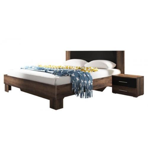Κρεβάτι με 2 κομοδίνα Veron-160x200-Καρυδί Σκούρο