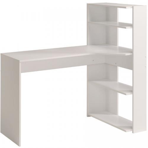 Γραφείο-Βιβλιοθήκη Corner-Λευκό
