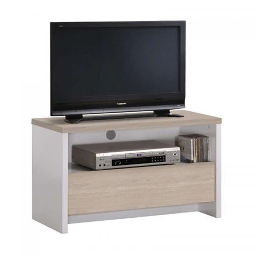 TV8 S.OAK/WHITE 80Χ40X49εκ.ΕΠΙΠΛΟ